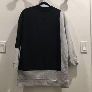 Zara mini sweatshirt dress in great condition!
